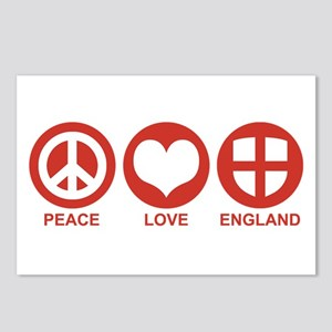 Peace Love England Postcards (Package of 8)