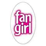 Fan Girl Oval Sticker (10 pk)