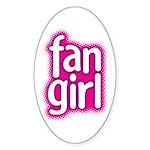 Fan Girl Oval Sticker