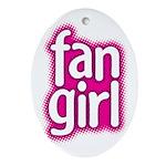 Fan Girl Oval Ornament