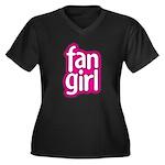 Fan Girl Women's Plus Size V-Neck Dark T-Shirt
