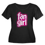 Fan Girl Women's Plus Size Scoop Neck Dark T-Shirt
