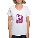 Fan Girl Women's V-Neck T-Shirt