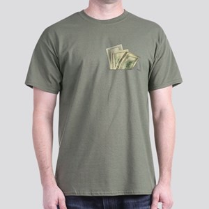 Fake Money Pocket Dark T-Shirt