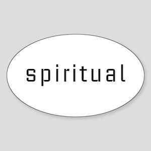 Spiritual Oval Sticker