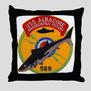 USS ALBACORE Throw Pillow