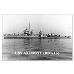 USS ANTHONY Large Poster