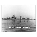 USS ANTHONY Small Poster