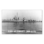 USS ANTHONY Rectangle Sticker