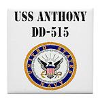 USS ANTHONY Tile Coaster
