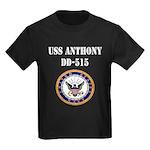 USS ANTHONY Kids Dark T-Shirt