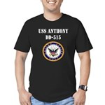 USS ANTHONY Men's Fitted T-Shirt (dark)