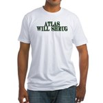 Atlas Will Shrug Fitted T-Shirt