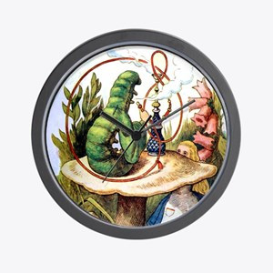 ALICE & THE CATERPILLAR Wall Clock
