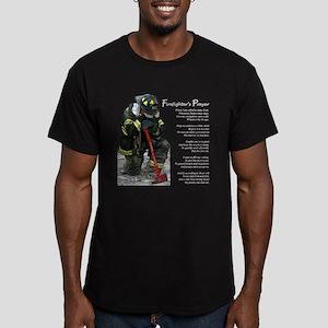 Firefighter Prayer Men's Fitted T-Shirt (dark)