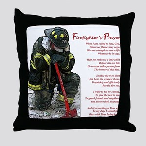 Firefighter Prayer Throw Pillow
