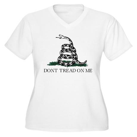 Gadsden Flag Women's Plus Size V-Neck T-Shirt