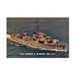 USS ALBERT T. HARRIS Mini Poster Print