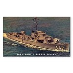 USS ALBERT T. HARRIS Sticker (Rectangle)
