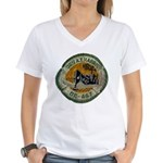 USS ALBERT T. HARRIS Women's V-Neck T-Shirt