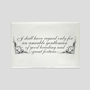 Jane Austen Inspired Rectangle Magnet (10 pack)