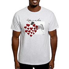 Love Is An Akita Valentine Light T-Shirt