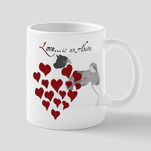 Love Is An Akita Valentine Mug