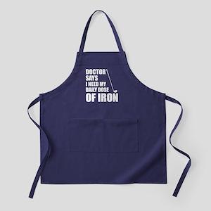 Doctor Says Daily Dose Iron Apron (dark)