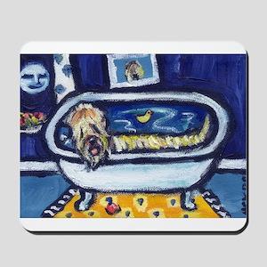 Wheatie bath moon smile Mousepad