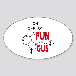 FUN GUS MAGIC MUSHROOMS Sticker (Oval)