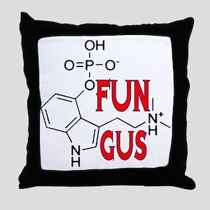 FUN GUS MAGIC MUSHROOMS Throw Pillow