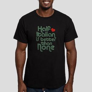 Half Italian Men's Fitted T-Shirt (dark)