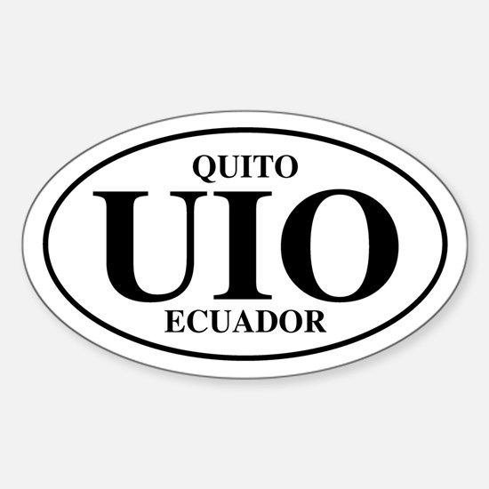 UIO Quito Oval Decal