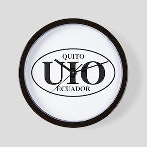 UIO Quito Wall Clock