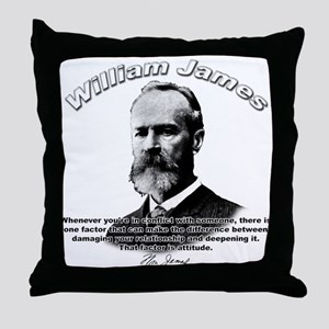 William James 02 Throw Pillow