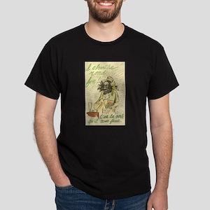 L'Absinthe Rend Fou Black T-Shirt
