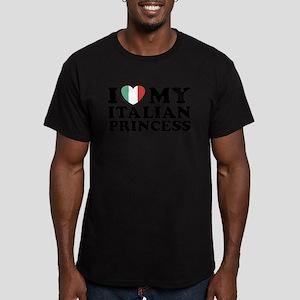 I Love My Italian Princess Men's Fitted T-Shirt (d