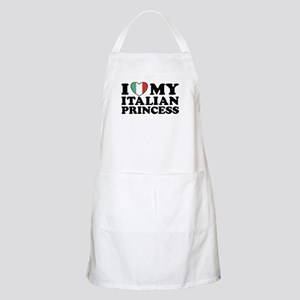 I Love My Italian Princess BBQ Apron