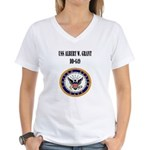 USS ALBERT W. GRANT Women's V-Neck T-Shirt
