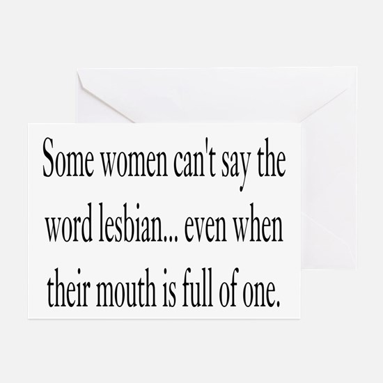 The word Lesbian Greeting Cards (Pk of 10)