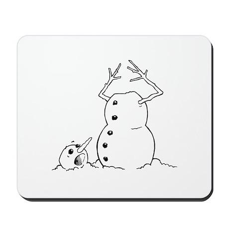 Headless Snowman Mousepad