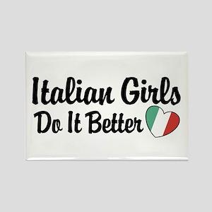 Italian Girls Do It Better Rectangle Magnet