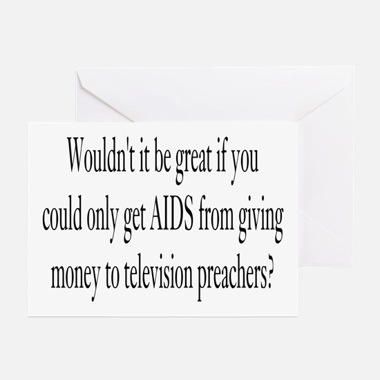 Television Preachers Greeting Cards (Pk of 10)
