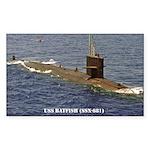 USS BATFISH Rectangle Sticker 10 pk)