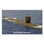 USS BATFISH Rectangle Sticker