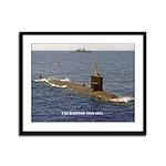 USS BATFISH Framed Panel Print