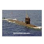 USS BATFISH Postcards (Package of 8)