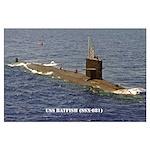USS BATFISH Large Poster