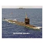 USS BATFISH Small Poster