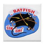 USS BATFISH Tile Coaster
